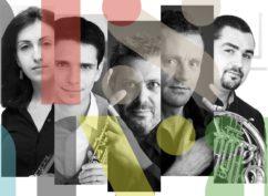 """Concert  à Bibracte : quintet """"Ars Nova"""", formation de flûte, basson, cor, clarinette et hautbois"""