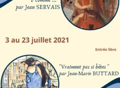 Exposition de Jean-Marie Buttard et Jean Servais à Arnay-le-Duc