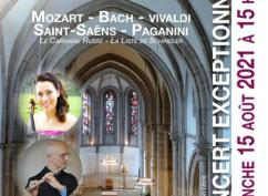Concert exceptionnel Violon (Natacha Triadou), Flûte (Frère Hubert) et Orgue (Jean Jacques Griesser)