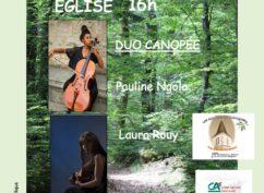 Concert du Duo Canopée, violoncelle et guitare